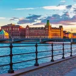 Jigsaw puzzle: Scenic sunset in Stockholm