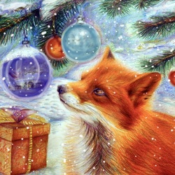 Jigsaw puzzle: Fox and gifts