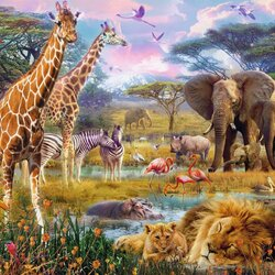 Jigsaw puzzle: Animals of Africa