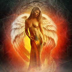 Jigsaw puzzle: Fire angel