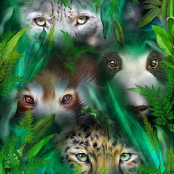 Jigsaw puzzle: Jungle eyes