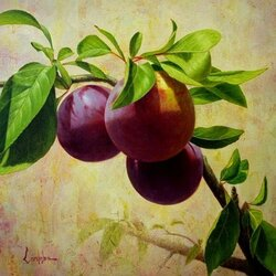Jigsaw puzzle: Sprig with plums