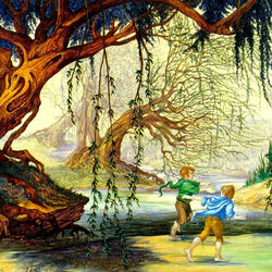 Jigsaw puzzle: The Hobbits and Tom Bombadil