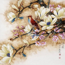 Jigsaw puzzle: Flowers and birds