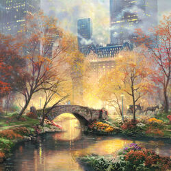 Jigsaw puzzle: Central park in autumn