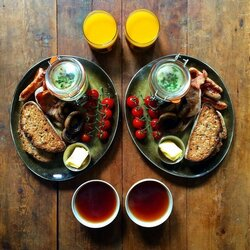Jigsaw puzzle: Breakfast for two