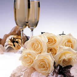 Jigsaw puzzle: Roses and champagne