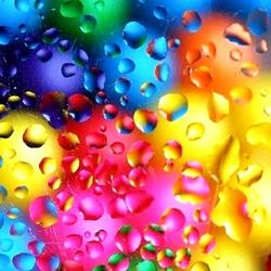 Jigsaw puzzle: Colored drops