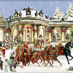Jigsaw puzzle: Sleigh with Santa Claus
