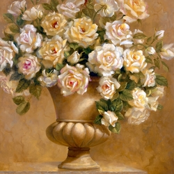Jigsaw puzzle: Bouquet of white roses