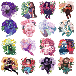 Jigsaw puzzle: Steven Universe in colors