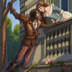 Jigsaw puzzle: D'Artagnan and Constance
