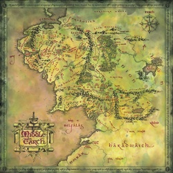 Jigsaw puzzle: Third Age Middle Earth Map