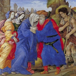 Jigsaw puzzle: Meeting of Joachim and Anna at the Golden Gate of Jerusalem