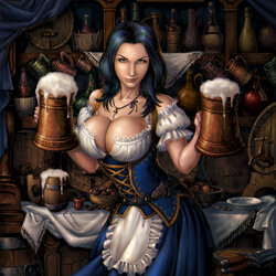 Jigsaw puzzle: Daimona, the tavern girl