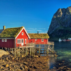 Jigsaw puzzle: Fishing lodges, Lofoten