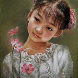 Jigsaw puzzle: Young chinese woman