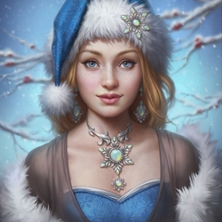 Jigsaw puzzle: Christmas lady