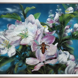 Jigsaw puzzle: Apple trees in bloom