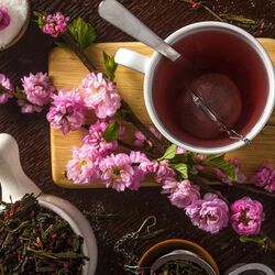 Jigsaw puzzle: Cherry tea