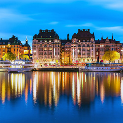 Jigsaw puzzle: Stockholm evening