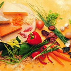 Jigsaw puzzle: Cheese and vegetables