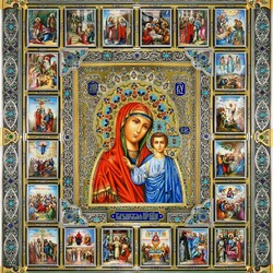 Jigsaw puzzle: Icon of the Kazan Mother of God