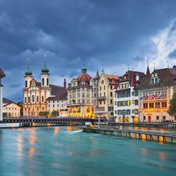 Jigsaw puzzle: Evening Lucerne