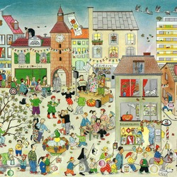 Jigsaw puzzle: Party in the city
