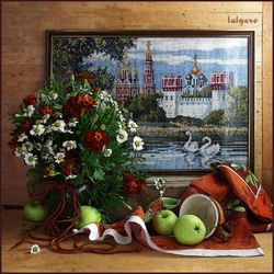 Jigsaw puzzle: Still life with embroidery