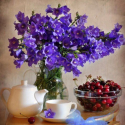 Jigsaw puzzle: Still life with cherries and bells