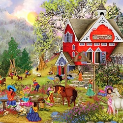 Jigsaw puzzle: On the farm