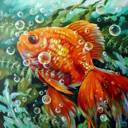 Jigsaw puzzle: gold fish