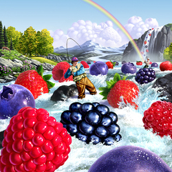 Jigsaw puzzle: Berry fishing