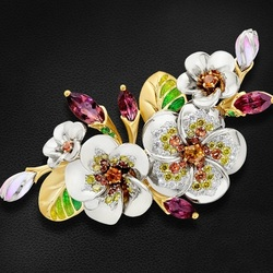 Jigsaw puzzle: Brooch Apple blossom