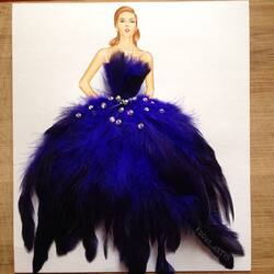 Jigsaw puzzle: In blue feathers