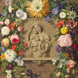 Jigsaw puzzle: Madonna in a garland