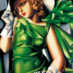 Jigsaw puzzle: Lady in green