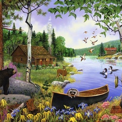 Jigsaw puzzle: On the lake