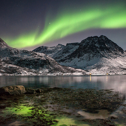 Jigsaw puzzle: Norway. Northern Lights