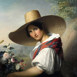 Jigsaw puzzle: Girl with hat