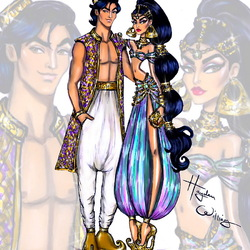 Jigsaw puzzle: Jasmine and Aladdin