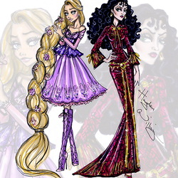 Jigsaw puzzle: Rapunzel and Gothel