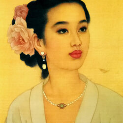 Jigsaw puzzle: Lovely chinese woman