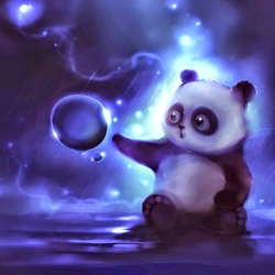 Jigsaw puzzle: Panda and droplet