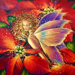 Jigsaw puzzle: Poinsettia fairy