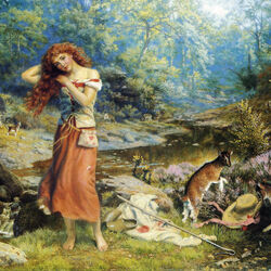 Jigsaw puzzle: Shepherdess