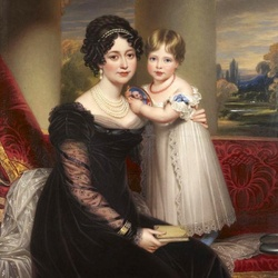 Jigsaw puzzle: Duchess of Kent with Princess Victoria