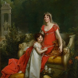 Jigsaw puzzle: Eliza Bonaparte with her daughter