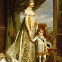 Jigsaw puzzle: Hortense, wife of Louis Bonaparte, with her son